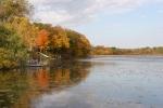 Autumn se Minnesota, #18 shoreline KellyLake