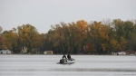 Autumn se Minnesota, #23 anglers on FrenchLake