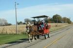 Harvest, #353 horse drawnwagon