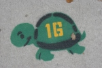 Nisswa, #141 turtle painted onsidewalk