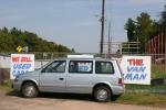 Car lot, #86 van bysign