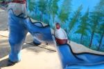 Pequot Lakes, Babe the Blue Ox bobber closeup#183