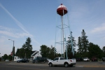Pequot Lakes, water tower truck by#203