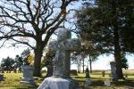 St. Jarlath Cemetery, #340 cross, trees &gravestones