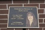 Barb Larson memorial, #4 plaqueclose-up