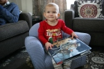 Family Christmas #57 Izzy with book