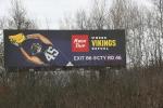 Football Vikings billboard KwikTrip
