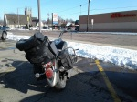 Motorcycle in snow2
