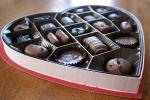 Chocolates in heart box, #6chocolates