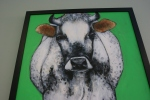 Farm animal portrait, #8 grey & white cow J.Fakler