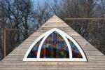 Little Prairie Church playground, #37 edited stainedglass