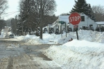 Snowy Faribault, #104 intersection by PeaceChurch