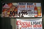Mazeppa #32 fish frysign