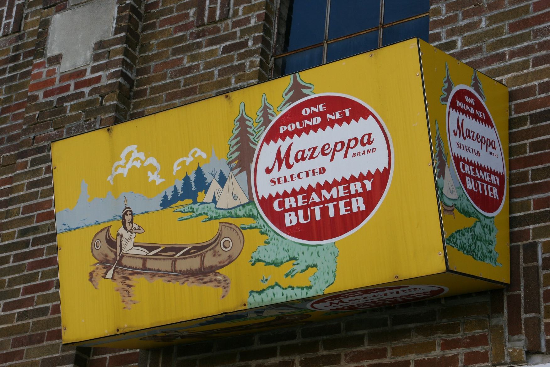 Mike Meyer signs, #50 creamery butter sign | Minnesota Prairie Roots