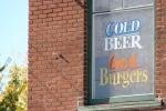 WD's Bar & Grill, #43 beer sign inwindow