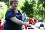 Memorial Day, #366 handing outprograms