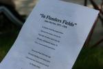 Memorial Day in Faribault, #374 In Flanders Fields onpaper