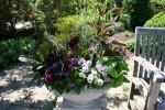 Botanical gardens, #138 planter &bench