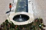 Botanical gardens, #143 girl by pondclose-up