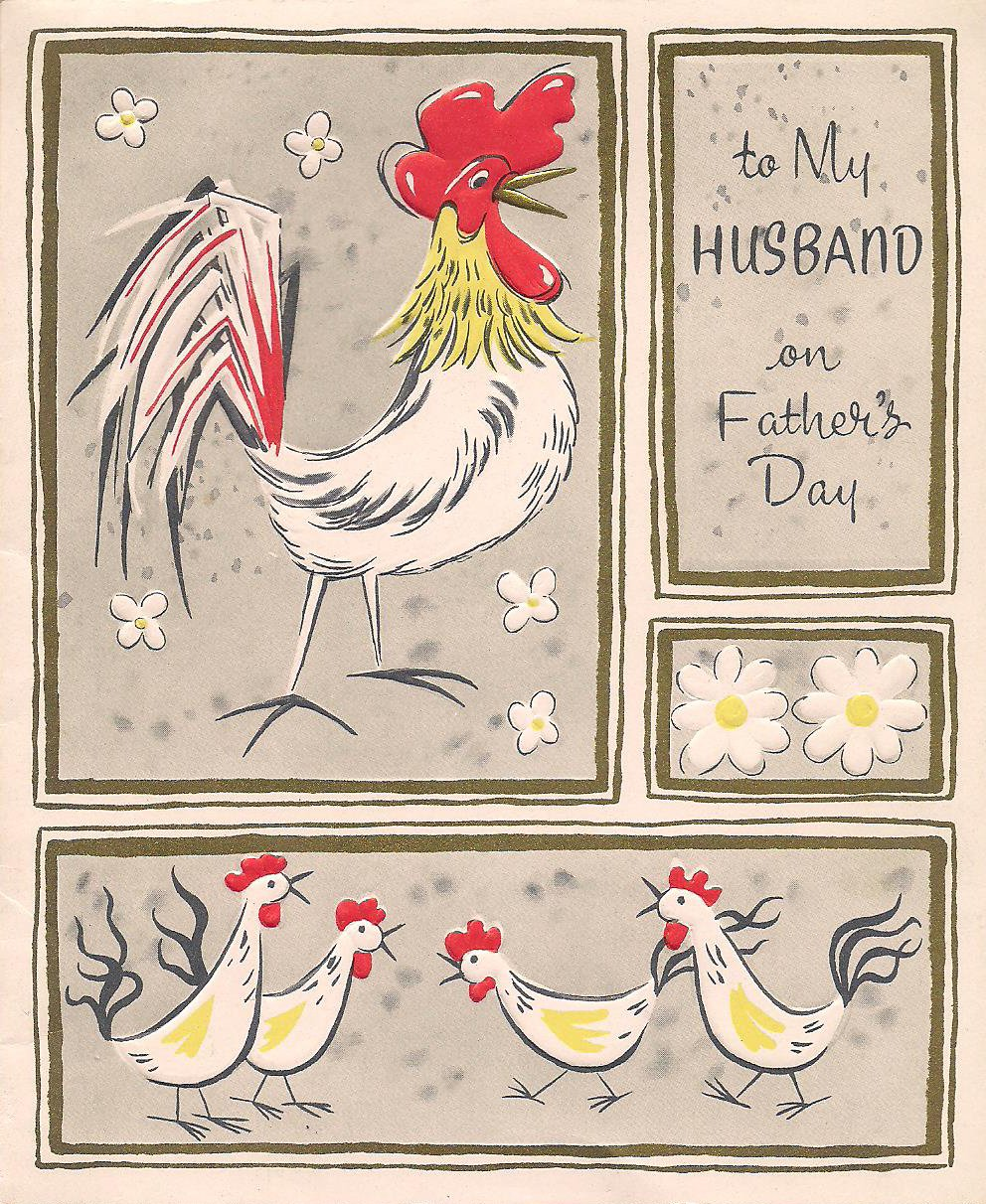 Fathers Day Card Rooster Cover Minnesota Prairie Roots