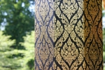 Thai gardens, #157 gold leafclose-up