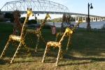 SeptOberfest, #339 giraffes & bridge inbackground
