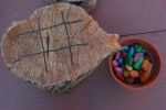 SeptOberfest, #370 tic tac toe on tree stump