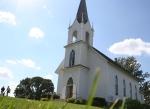 Valley Grove, #16 wooden church grass inforefront
