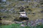 Art in Decorah, #154 stacked rocks at Dunning'sSpring