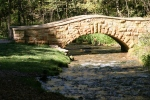 Art in Decorah, #172 stone bridge in Dunning's SpringPark