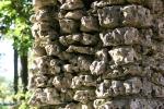 Art in Decorah, #86 stone wallclose-up