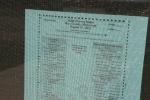 Backroads, #61 ballot in town hallwindow