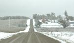 Snow, #248 gravel road through snowy landscape –Copy