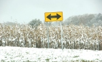 Snow, #261 double arrow road sign –Copy