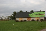 Storm damage, #71 roof & window onshed