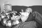 baby, #28, grandpaholding