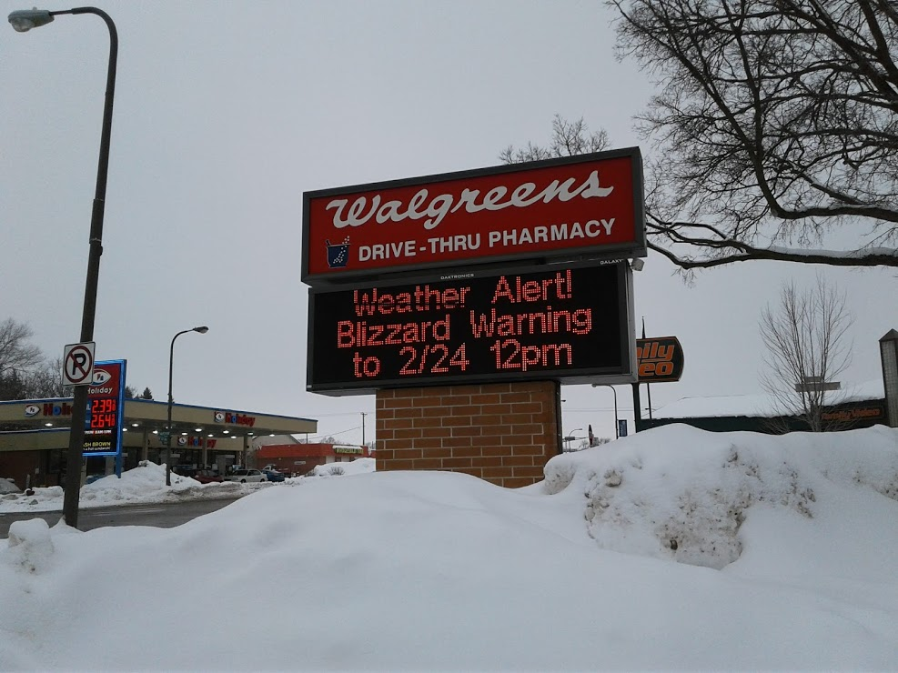 From Faribault: Awaiting a blizzard
