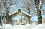 Winter scenes, #24 arched entrance into Shattuck