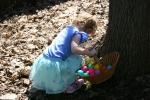 Easter, #20 gathering eggsclose-up