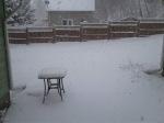 Snow backyard April10