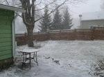 Snow, beginning to fall April10