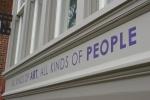 Northfield MN, #107 message on art centerexterior
