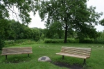 Carleton College, #98 benches by labyrinth