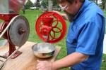 Aspelund Winery, #15 Bruce grinding wheat intoflour