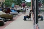 Car Cruise, #15 car owner sitting on lawnchair