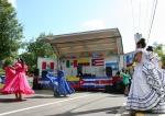 Hispanic fest, #108 dancers & crowd incostume