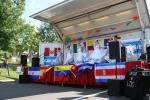 Hispanic fest, #147 wide stage view of girls in white ruffleddresses