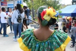 Hispanic fest, #37 back of with flower in hair in costume