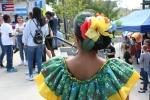 Hispanic fest, #37 back of with flower in hair incostume