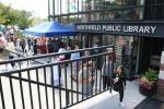 Hispanic fest, #75 Northfield Library exteriorsign
